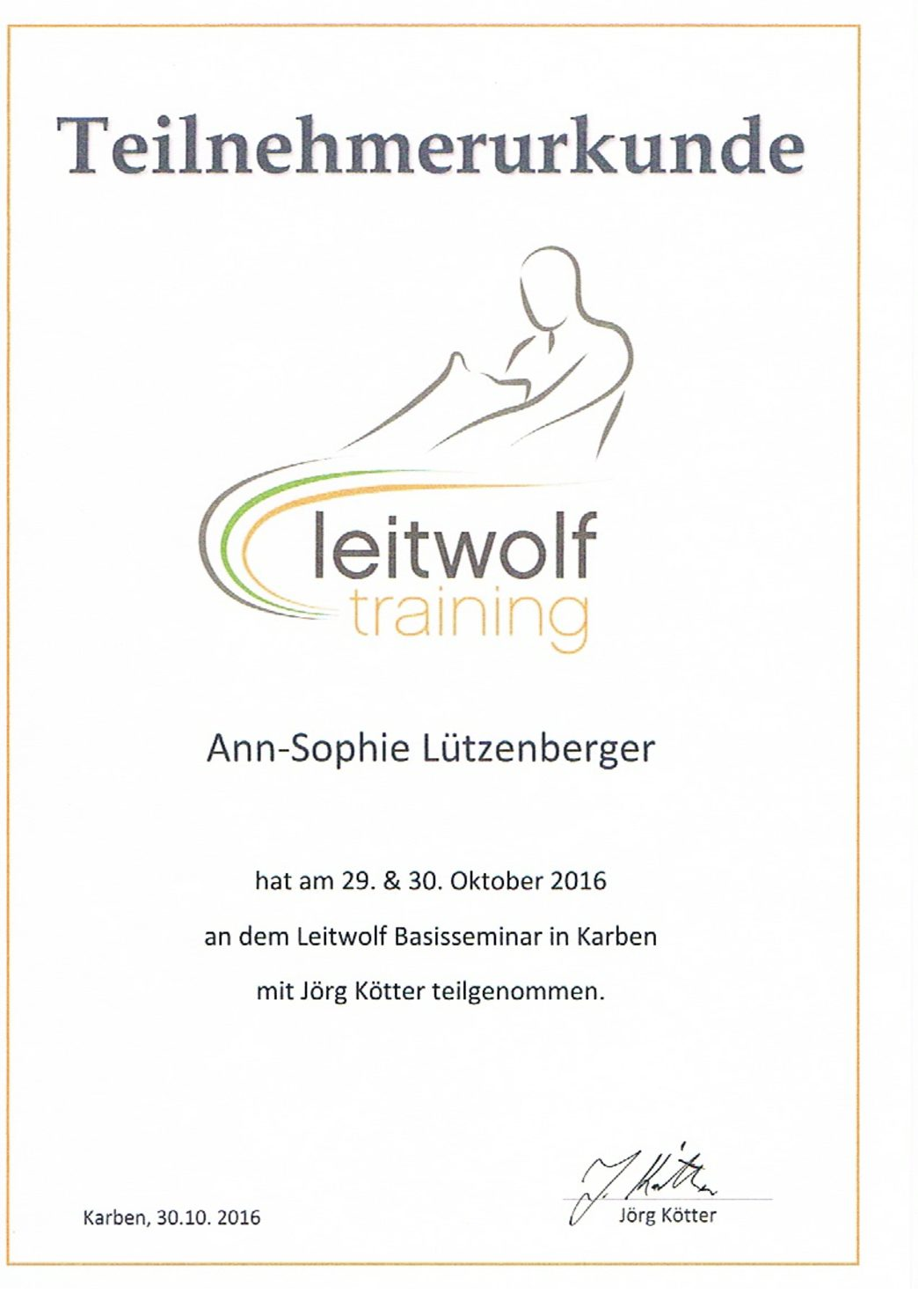 Leitwolf Training