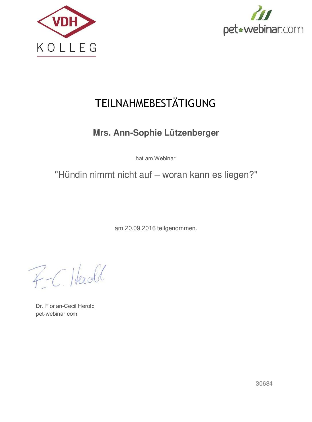 VDH Kolleg